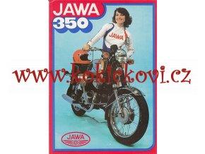 Jawa 350 / 634 reklamní prospekt - 1 list A4 - Motokov