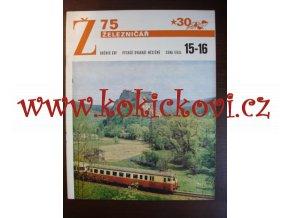 ČASOPIS ŽELEZNIČÁŘ 1975 - 1x DVOJČÍSLO VIZ SKEN
