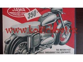 JAWA 350 ORIGINÁLNÍ PROSPEKT Z ROKU 1954 TEXT ANGLICKY