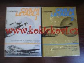 Civilní letadla 1-2 - V. Němeček - komplet - cena za obě knihy