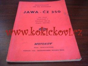 JAWA-ČZ 350 type 354 - Ersatzteilliste - Ausgabe - 1955-56 - MOTOKOV