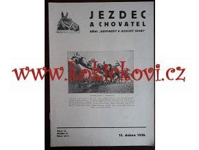 JEZDEC A CHOVATEL ČÍSLO 76 - DUBEN 1936 - A4 VÝBORNÝ STAV
