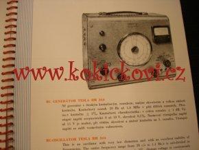 TESLA BRNO - ELEKTRONICKÉ MĚŘÍCÍ PŘÍSTROJE - REKLAMNÍ KATALOG A5 - 1960
