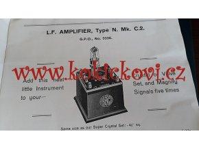 The National Wireless and Electric - radio and crystal sets - reklamní brožura 20 stran - 192?