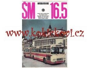 Karosa ŠM 16.5 - KLOUBOVÝ AUTOBUS - REKLAMNÍ PROSPEKT 12 STRAN - A4 - ANGLICKY