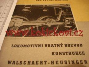 LOKOMOTIVNÍ VRATNÝ ROZVOD - ING. MENTLÍK PRAHA 1957