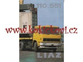 Liaz 110.551 - návěsový tahač 4 x 2 - prospekt