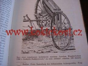 Jan Vojáček - Vývoj secích a rozmetacích strojů - Praha 1918 - raritní monografie