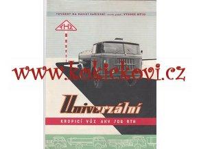 Univerzální kropící vůz Škoda 706 RTH AKV - reklamní prospekt - 195? - 6 stran A4