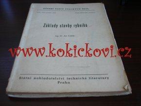 Základy stavby rybníků - Dr. Jan Cablík - skripta SNTL Praha 1956 - náklad 460ks