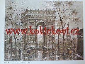L'arche de Triomphe - PAŘÍŽ - UMĚLECKÝ TISK - VHODNÉ K DEKORACI 45*35 CM
