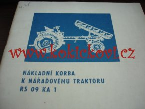 Nákladní korba k nářaďovému traktoru RS 09 KA 1