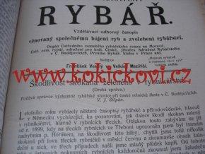 ČESKO MORAVSKÝ RYBÁŘ VELKÉ MEZIŘÍČÍ 1907 - ROČNÍK 6 - KOMPLET 12 ČÍSEL