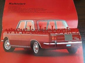 Fiat 125 Special Prospekt německy 1967 16 str. A4