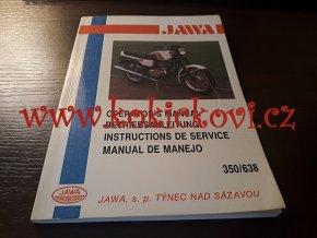 JAWA 350 / 638 OPERATOR´S MANUAL - NÁVOD K OBSLUZE ANGLICKY FJ / NJ / ŠJ 1991