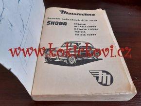 Škoda Octavia, Felicia - seznam náhradních dílů - 1968