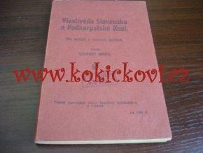 VLASTIVĚDA SLOVENSKA A PODKARPATSKÉ RUSI