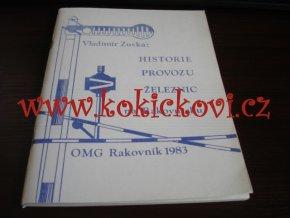 HISTORIE PROVOZU ŽELEZNIC NA RAKOVNICKU - OMG RAKOVNÍK 1983