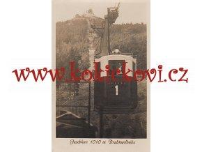 KABINA LANOVKY NA JEŠTĚD - POHLEDNICE 1934 - NEPROŠLÁ - PĚKNÝ STAV