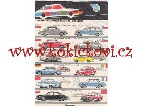 Osobní automobily tuzemské i dovážené - Mototechna, prospekt
