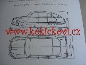 NOVÝ OSOBNÍ AUTOMOBIL SVĚTOVÉ TŘÍDY TATRA 603 - TECHNICKÝ LIST - LETÁK - 4 STR. A5