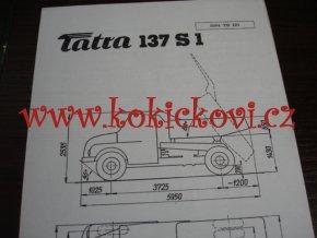 TATRA 137 S1 - TECHNICKÝ LIST - LETÁK - 2 STR. A5