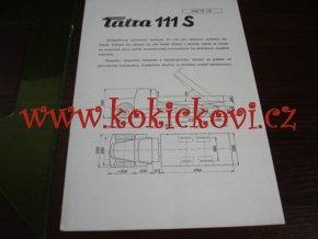 TATRA 111 S - TECHNICKÝ LIST - LETÁK - 2 STR. A5