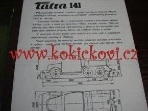 TATRA 141 - TECHNICKÝ LIST - LETÁK - 2 STR. A5