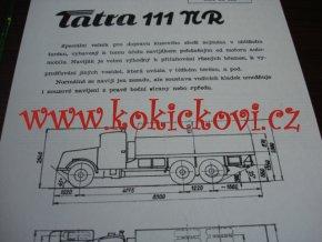 TATRA 111 NR - TECHNICKÝ LIST - LETÁK - 2 STR. A5