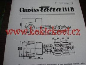 TATRA 111 R - TECHNICKÝ LIST - LETÁK - 2 STR. A5