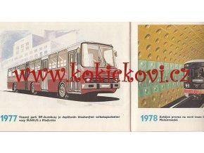 VÝVOJ MĚSTSKÁ HROMADNÁ DOPRAVA - 1980 - ILUSTRACE FRANTIŠEK KARDAUS - A5 - 30 STRAN