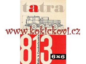 TATRA 813 - 6X6 - REKLAMNÍ PROSPEKT A4 - 4 STRANY- ŠPANĚLSKY - SPANISH - MOTOKOV