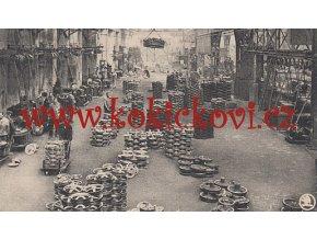 ŠKODOVY ZÁVODY - 1929 - POHLEDNICE - PROŠLÁ - POHLED DO TOVÁRNY SOUKOLÍ A HUNTOVÝCH LOŽISEK