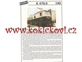 ELEKTRICKÁ LOKOMOTIVA - E 479.1 - REKLAMNÍ PROSPEKT - A4 - 2 STRANY