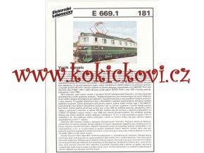 ELEKTRICKÁ LOKOMOTIVA - E 669.1 - REKLAMNÍ PROSPEKT - A4 - 2 STRANY