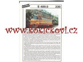 ELEKTRICKÁ LOKOMOTIVA - E 489.0 - REKLAMNÍ PROSPEKT - A4 - 2 STRANY
