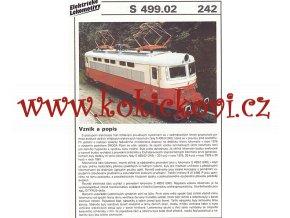 ELEKTRICKÁ LOKOMOTIVA - E 499.02 - REKLAMNÍ PROSPEKT - A4 - 2 STRANY