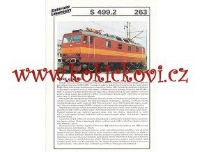 ELEKTRICKÁ LOKOMOTIVA - E 499.2 - REKLAMNÍ PROSPEKT - A4 - 2 STRANY