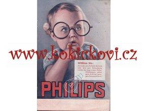 PHILIPS ŽÁROVKY PROSPEKT - BROŽURA - REKLAMNÍ TITULNÍ STRANA - DEKORACE