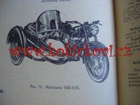 Kniha k opravě motocyklu skútru a mopedu - rusky -1965