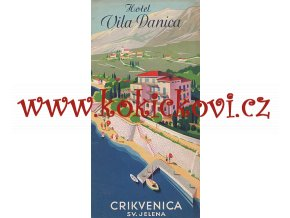 HOTEL VILA DANICA Travel Brochure, 1936 - CZECH EDITION - ART DECO