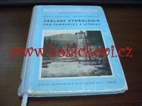 Patočka, Cyril: Základy hydrologie pro zemědělce a lesníky, 1956