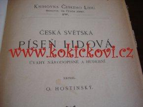 Česká světská píseň lidová. Úvahy národopisné a hudební