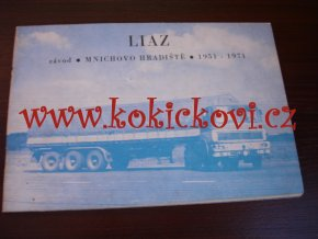 LIAZ ZÁVOD Mnichovo Hradiště 1951-1971 - reklamní brožura - 40 stran