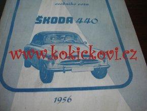 ŠKODA 440 SPARTAK NÁVOD K OBSLUZE TYP 970 ROK 1956