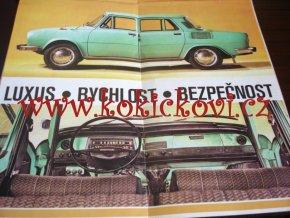 ŠKODA 100 - 100 L - 110 L - MOTOTECHNA - MODELY 1973 - POMAČKÁNO - ROZKLÁDACÍ PROSPEKT
