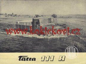 Tatra 111 R - 111 S - prospekt - Motokov - rok 1955 - anglicky