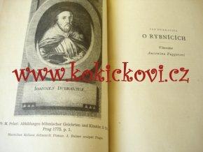 Základní dílo starého českého rybnikářství Jan Dubravius