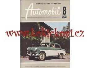 ČASOPIS AUTOMOBIL ČÍSLO 8/1959 - 1 KOMPLETNÍ ZACHOVALÉ ČÍSLO