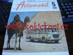 ČASOPIS AUTOMOBIL ČÍSLO 5/1959 - 1 KOMPLETNÍ ZACHOVALÉ ČÍSLO